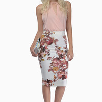 Flower Bombshell Pencil Skirt $33