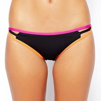 By Caprice Capri Neon Bikini at asos.com