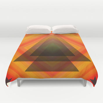 Orange Aura Duvet Cover by DuckyB (Brandi)
