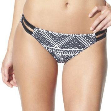 Xhilaration® Junior's Hipster Swim Bottom -Black Print