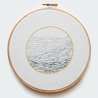 Troubled Waters Embroidered Wall Art