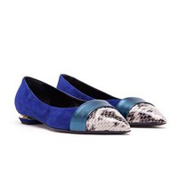 NICHOLAS KIRKWOOD | Suede and Python Pointed Loafers | Browns fashion & designer clothes & clothing