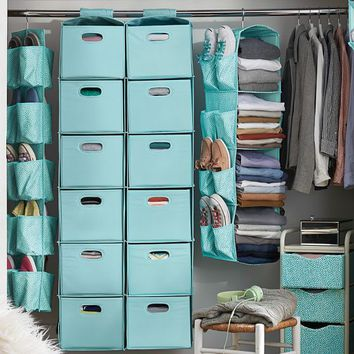 Printed Closet Sweater Bins