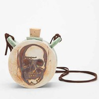 Chase Brown Skull Flask - Urban Outfitters