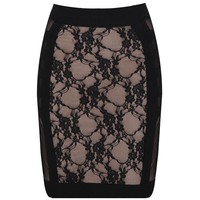 Bqueen Lace Skirt Black H122H - Designer Shoes|Bqueenshoes.com