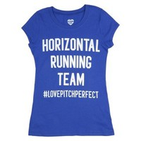 Junior's Horizontal Running Team Graphic Tee