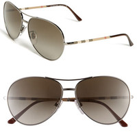 Burberry Metal Aviator Sunglasses