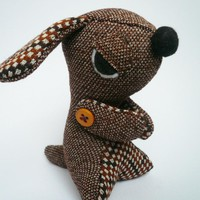 Evil Dog Stuffie - Brown Vintage Style | Luulla