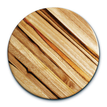 Cutting Boards - Edge Grain Circle Cutting Boards By Proteak | KitchenSource.com