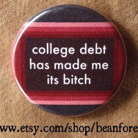 college debt by beanforest on Etsy