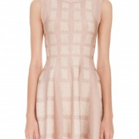 Boutique 1 - ISSA LONDON - Beige Jacquard Bay Dress | Boutique1.com