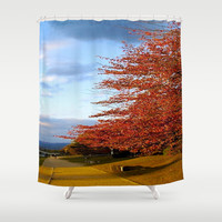 Fall Day in Kyoto Shower Curtain by Hoshizorawomiageteiru | Society6