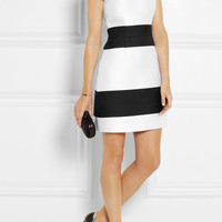 Narciso Rodriguez | Striped wool-blend and satin dress | NET-A-PORTER.COM