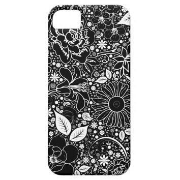 Botanical Beauties Black, iPhone 5/5s Case
