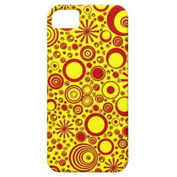 Rounds, Red-Yellow iPhone 5/5s Case