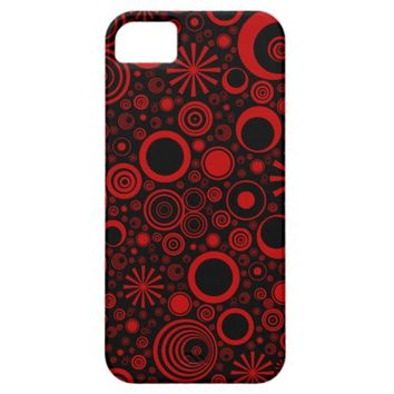 Rounds, Red-Black iPhone 5/5s Case