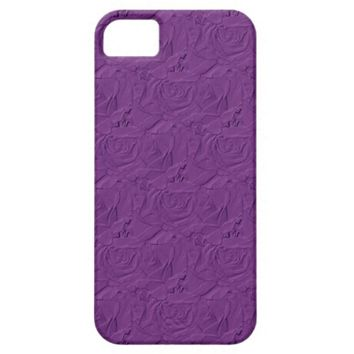 Embossed Roses Lavender Purple iPhone 5/5s