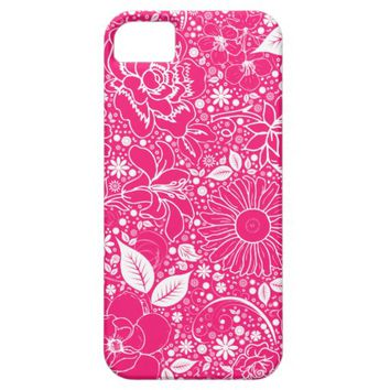 Botanical Beauties Hot Pink, iPhone 5/5s Case