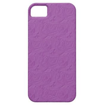 Embossed Roses Lilac Purple iPhone 5/5s