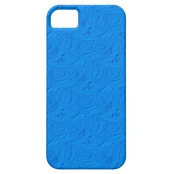 Embossed Roses Lt.Blue iPhone 5/5s Barely There