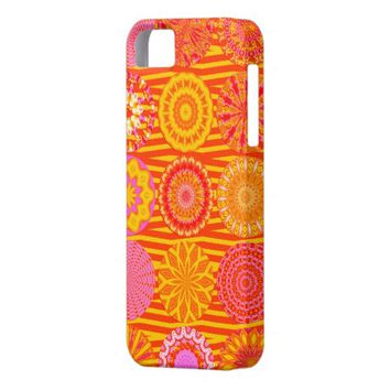 Kaleidoscope Fun, Pink-Orange iPhone 5/5s Case