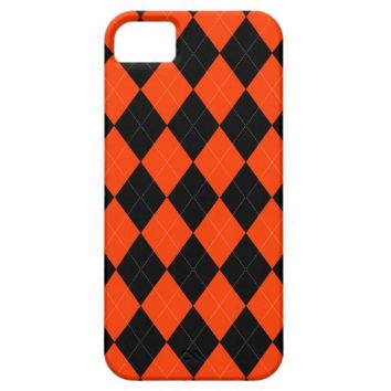 Orange Black Argyle iPhone 5/5s Case