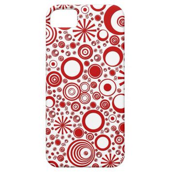 Rounds, Red-White iPhone 5/5s Phone Case