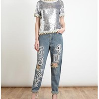 ASHISH | Sexy For You Distressed Jeans | Browns fashion & designer clothes & clothing