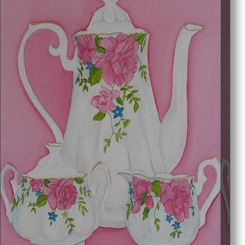 My Royal Doulton English Rose Teaware Acrylic Print