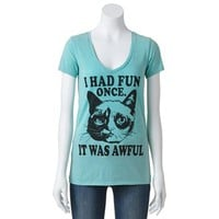 Fifth Sun Grumpy Cat Tee - Juniors