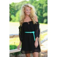 Holding On To You Dress-Black