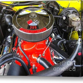 1969 Chevy Camero - Under The Hood Acrylic Print