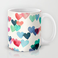 Heart Connections - watercolor painting Mug by micklyn | Society6
