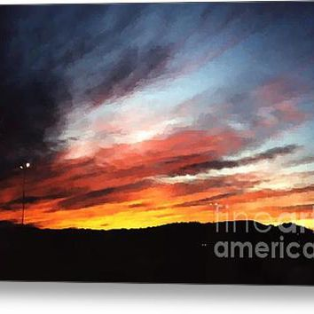Faux Wyoming Sunset Acrylic Print