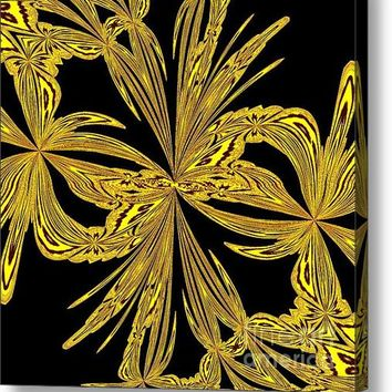Abstract Botanical Gold Acrylic Print
