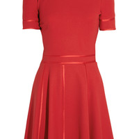 Paul & Joe Ghilain satin-trimmed textured-jersey dress – 65% at THE OUTNET.COM