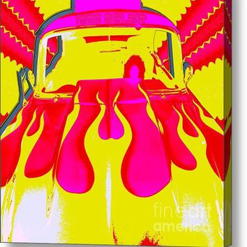Pop Art 1955 Bel Air Hot Pink Acrylic Print