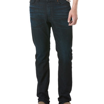 SLIM FIT DEEP INDIGO SCRAPED DENIM