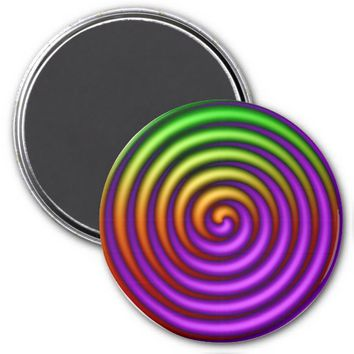 Spinning Purple-Green Refrigerator Magnet