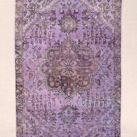 Vintage 3x4 Lavender Overdyed Rug - Urban Outfitters