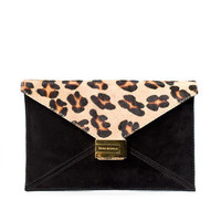 BUCK SKIN CLUTCH BAG - Handbags - Collection - Woman - ZARA United States