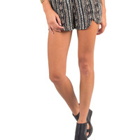 TRIBAL PATTERNED SLIT SHORTS