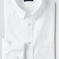 Men's Traditional Fit Solid No Iron Supima Oxford Dress Shirt from Lands' End