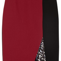 Peter Pilotto | Kyra color-block wool-crepe skirt | NET-A-PORTER.COM