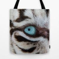 WHITE TIGER BEAUTY Tote Bag by Catspaws | Society6
