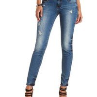 "Refuge ""Mid-Rise Skinny"" Medium Wash Jeans"