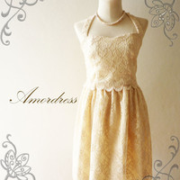 Amor Vintage Inspired Gorgeous Beige Cream Princess by Amordress