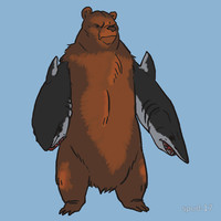 Bear with Shark Arms! - Large T-Shirts & Hoodies