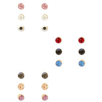 Colored Rhinestone Stud Set