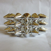 Silver Spike Triple Studded Bracelet Jewellery by NiceStuds